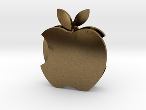 Apple earrings in Natural Bronze: Small