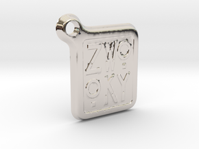 ZWOOKY Keyring LOGO 12 4cm 3mm rounded in Platinum