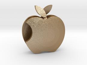 Apple pendant Love  in Matte Gold Steel: Medium