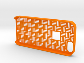 Japanese traditional pattern iPhone5/5S case in Orange Strong & Flexible Polished