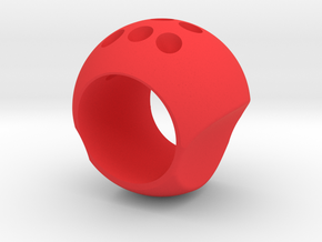 balled Ring in Red Processed Versatile Plastic