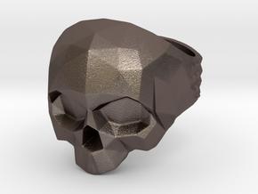 Polygonal Skull Ring  in Stainless Steel