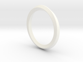 Mobius-ring (US size#6) in White Strong & Flexible Polished