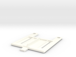 B5m Battery Strap With Slide in White Processed Versatile Plastic