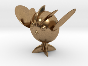Avocaowl in Natural Brass