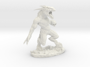 BONE DEMON.stl in White Strong & Flexible