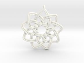 Logo Ornament in White Processed Versatile Plastic