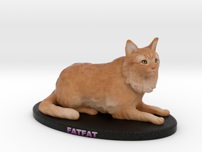 Custom Cat Figurine - Cesar in Full Color Sandstone