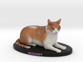 Custom Cat Figurine - Nugget in Full Color Sandstone