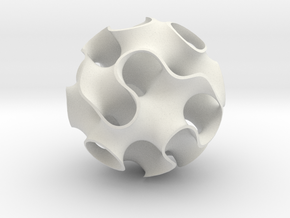 Large Gyroid in White Natural Versatile Plastic