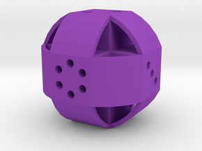 Dice90 in Purple Processed Versatile Plastic