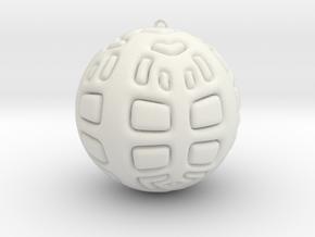 Christmas Tree Ornament #2 in White Natural Versatile Plastic