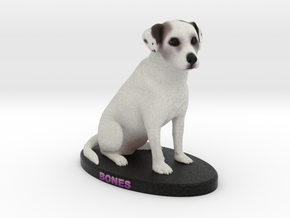 Custom Dog Figurine - Bones in Full Color Sandstone