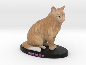 Custom Cat Figurine - Gobbler in Full Color Sandstone