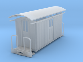 Sn2 medium short round roof Baggage car in Frosted Ultra Detail