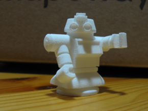 Maximum Cylinder Bot in White Natural Versatile Plastic