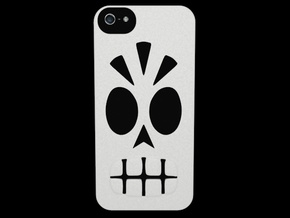 Calavera Iphone 5 Case in White Strong & Flexible
