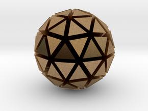 Tri-Ico-Sphere in Natural Brass
