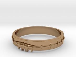 Bleeding Ring in Polished Brass