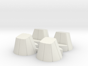 Ariane 4 PAL Skirts for the Heller kit in White Natural Versatile Plastic