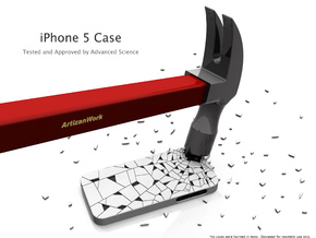 "iPhone 5 - ""Shattered"" Case in White Strong & Flexible Polished"