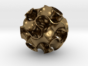 Small Gyroid in Natural Bronze