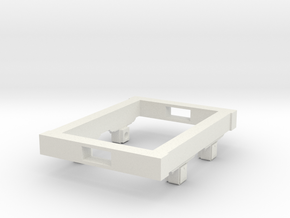 Gn15 small 4ft wagon chassis in White Natural Versatile Plastic