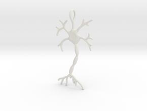 "Neuron Pendant (1.7"" high) in White Natural Versatile Plastic"