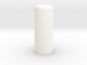 Plug 87-2 Elongated in White Processed Versatile Plastic