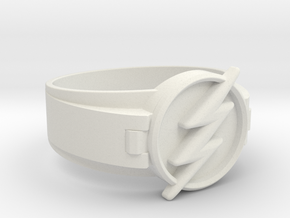 Flash Ring size 10 20mm  in White Natural Versatile Plastic
