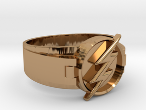 Flash Ring Size 9 19mm  in Polished Brass