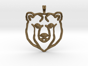 BEAR TOTEM Jewelry Designer Pendant in Natural Bronze