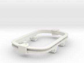 1:35 or Gn15 small skip underframe grease axlebox in White Natural Versatile Plastic