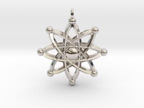 UNIVERSAL ATOM Designer Jewelry Pendant in Platinum