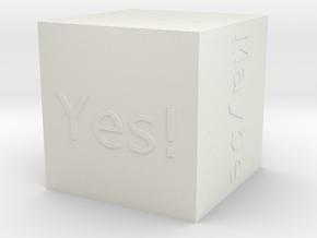 Answer Dice  in White Natural Versatile Plastic