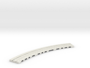 P-9st-long-9in-curve-1a in White Natural Versatile Plastic