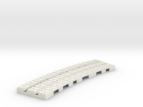 P-9st-short-9in-curve-1a in White Natural Versatile Plastic