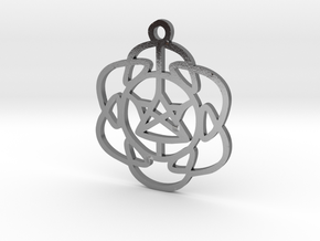 Vibrations Pendant in Polished Silver