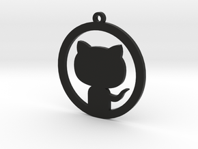 Octocat Keychain in Black Strong & Flexible