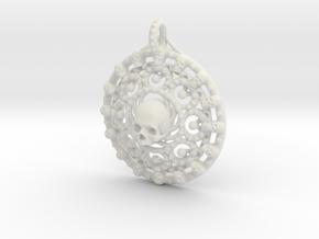 Skull Mandala in White Natural Versatile Plastic