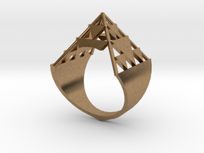 Inverted Sierpinski Size10 in Natural Brass