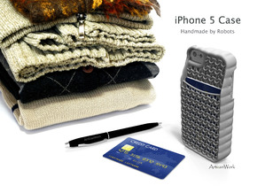 "iPhone 5 - ""Sweater"" Case with Pocket in White Processed Versatile Plastic"