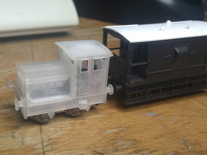 "Ruston 48DS N scale. About 6"" (1mm) wider than acc in Smooth Fine Detail Plastic"