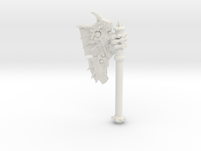 Daemonic Axe 01 Large in White Natural Versatile Plastic: Large