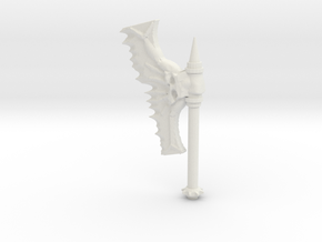 Daemonic Axe 02 in White Natural Versatile Plastic