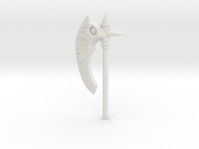 Daemonic Axe 04 in White Natural Versatile Plastic