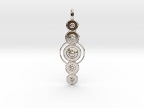COSMIC PLANETS Designer Jewelry Pendant  in Platinum