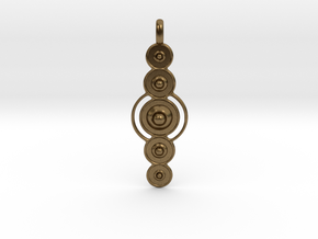 COSMIC PLANETS Designer Jewelry Pendant  in Natural Bronze
