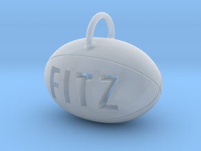 Personalize-able Rugby Ball Pendant in Smooth Fine Detail Plastic