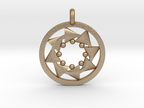 CIRCULAR Motion Designer Jewelry Pendant in Matte Gold Steel